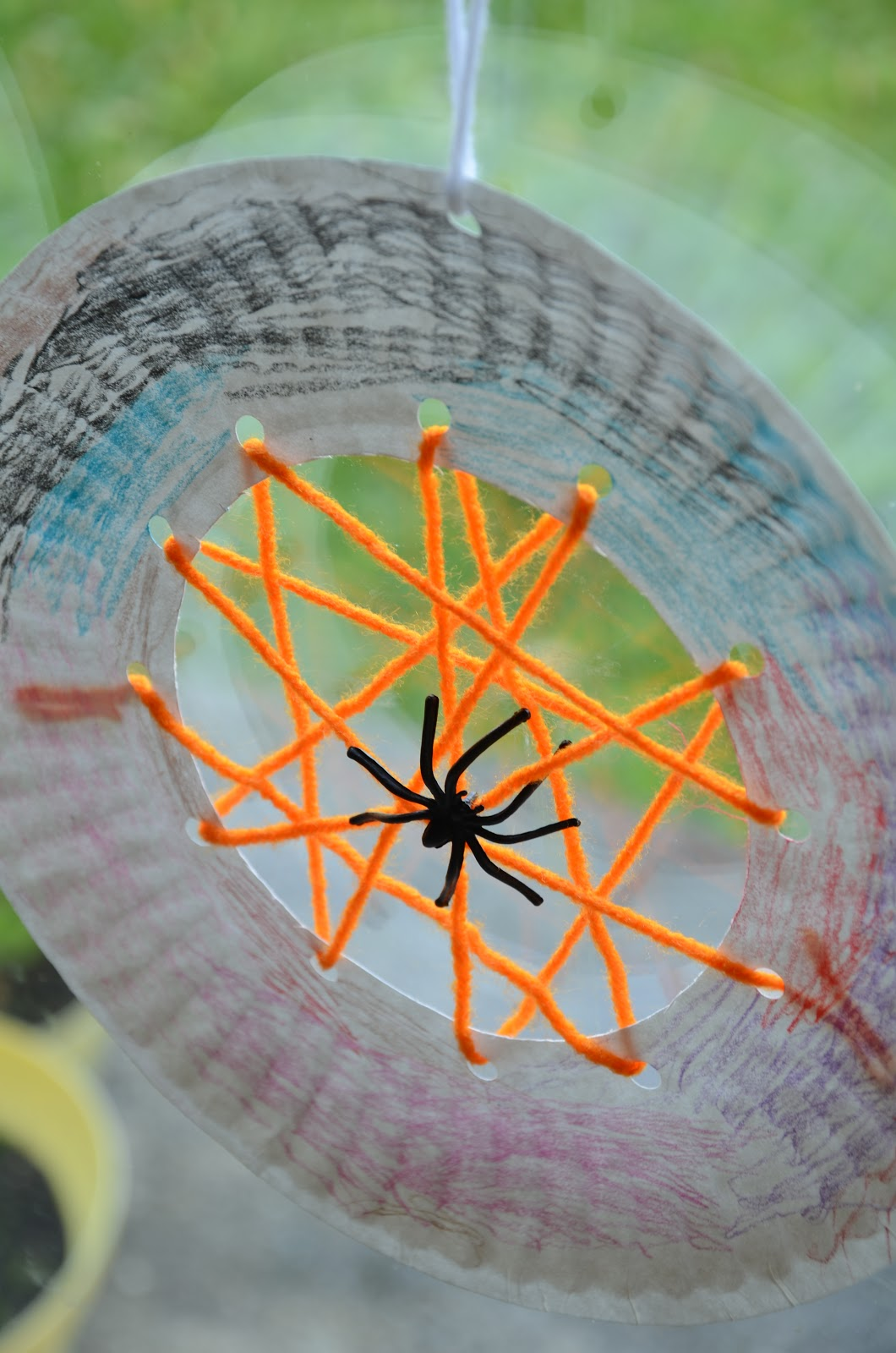 Paper Plate Spider Web Activity