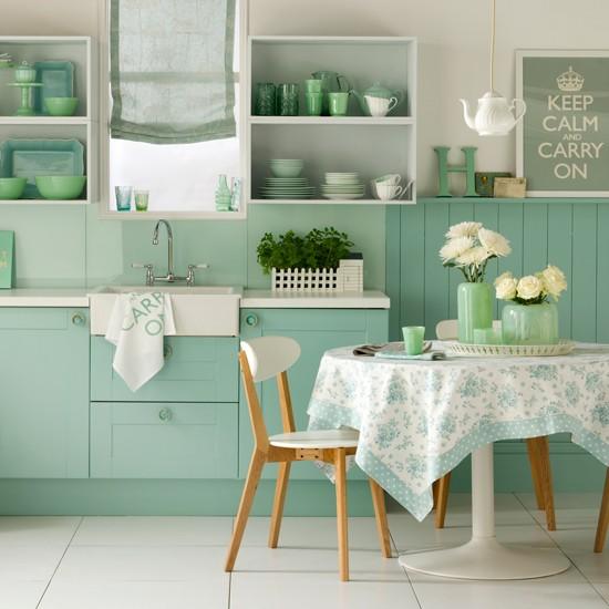 Minty Fresh Appeal Kitchen Design