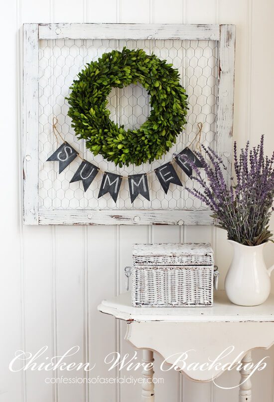Framed Sign with Wreath and Banner