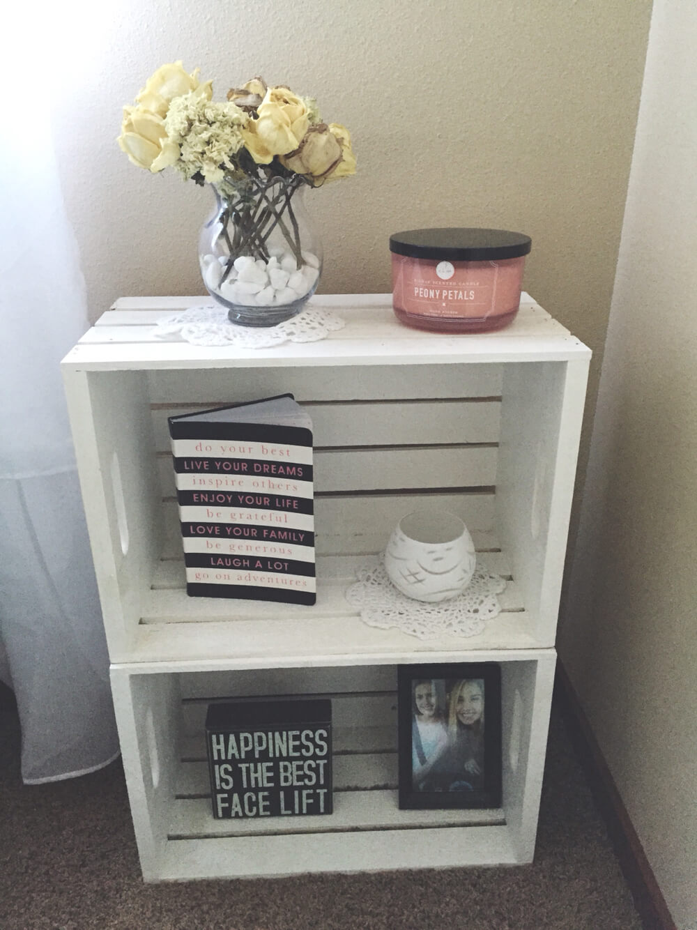 Boxy Two-shelf Crate With Slats