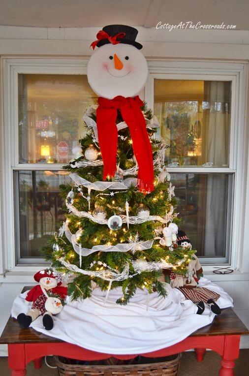 Mr. Snowman Tabletop Christmas Tree