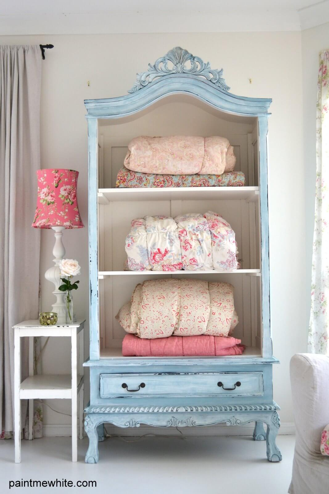 Rustic Upcycled Armoire Linen Cupboard