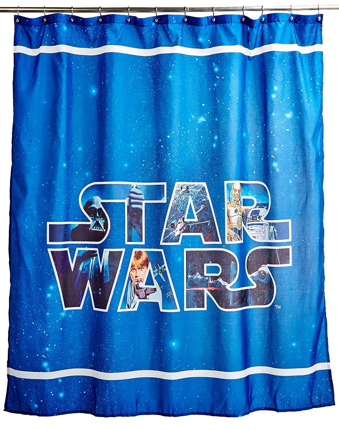 Star Wars Logo Shower Curtain