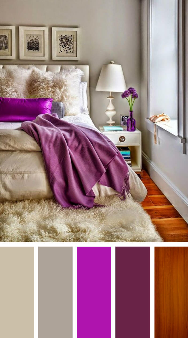 Purple Satin and Powder Gray with Hardwood