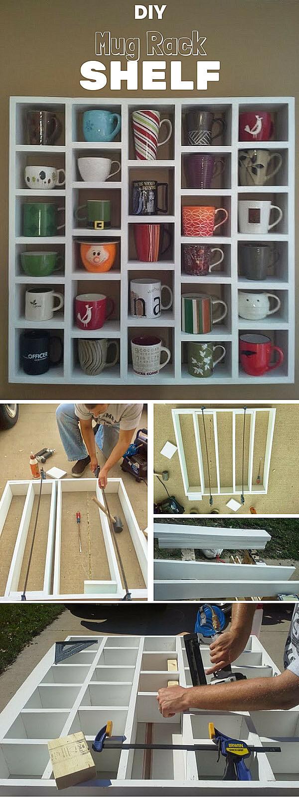 DIY Mug Cubby Shelves