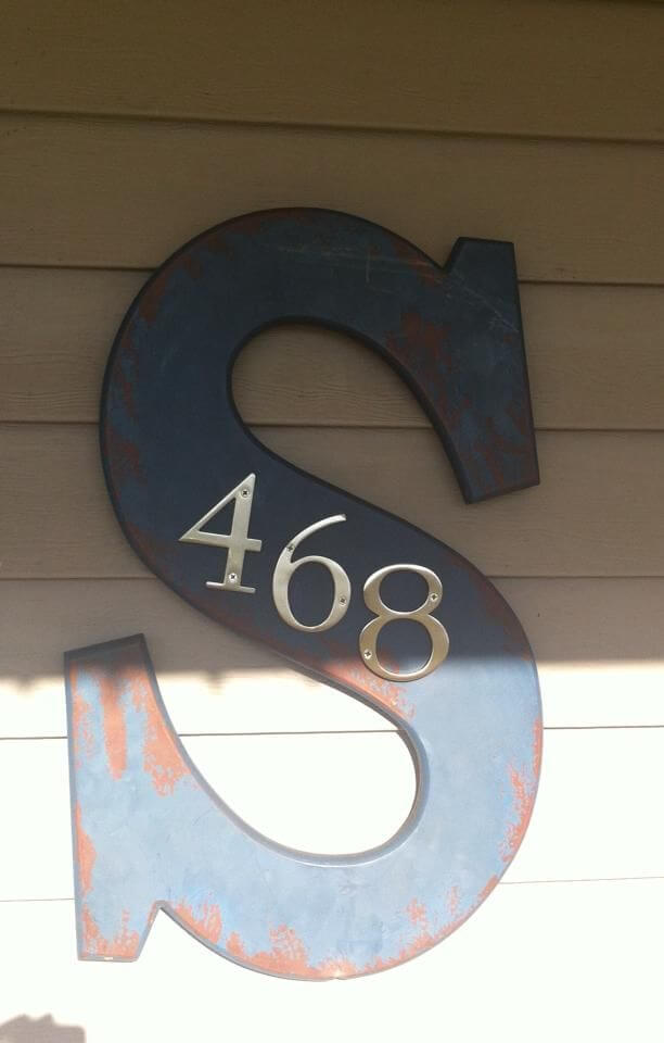 Creative House Number Ideas with Family Initials