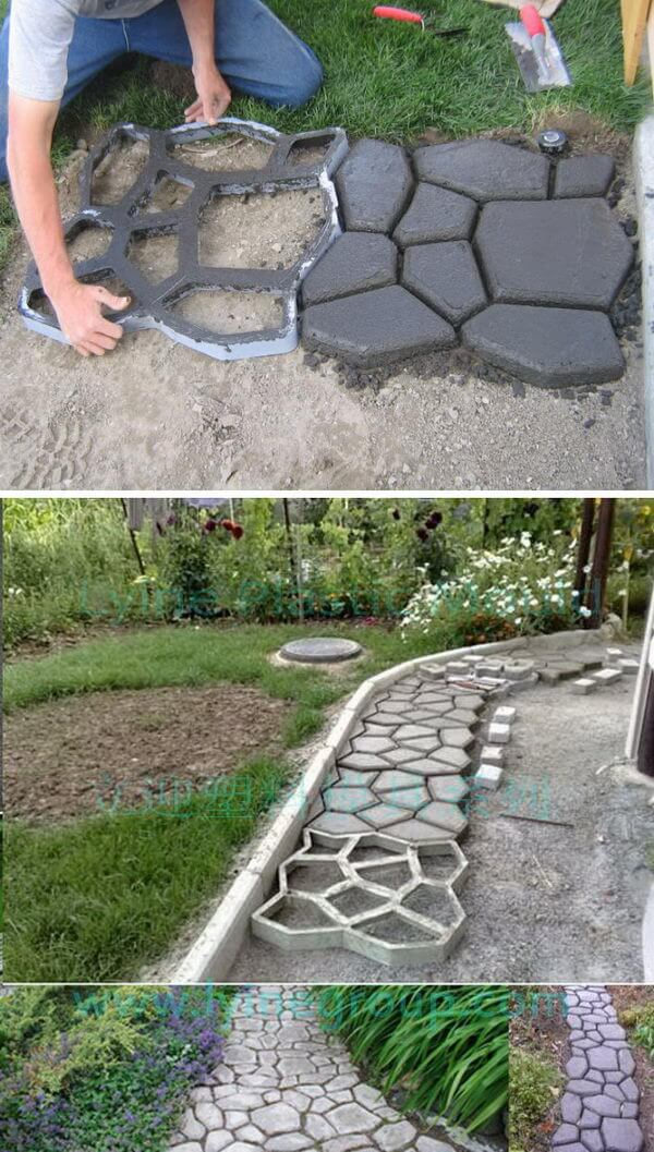 Concrete Garden Stepping Stone DIY Project