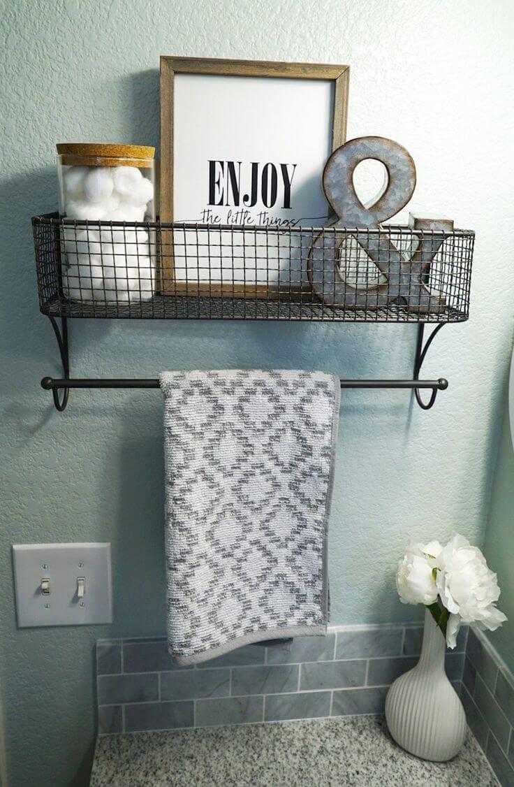 Antiquate Egg Basket Overhanging Shelf