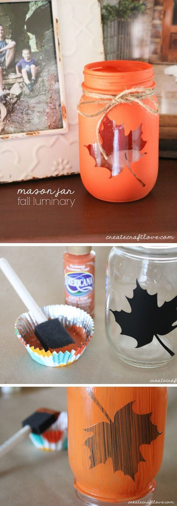 Fall in the Country Mason Jar