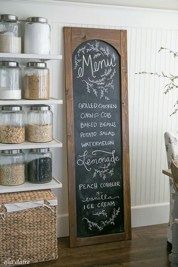 Free Standing Chalkboard Door Project