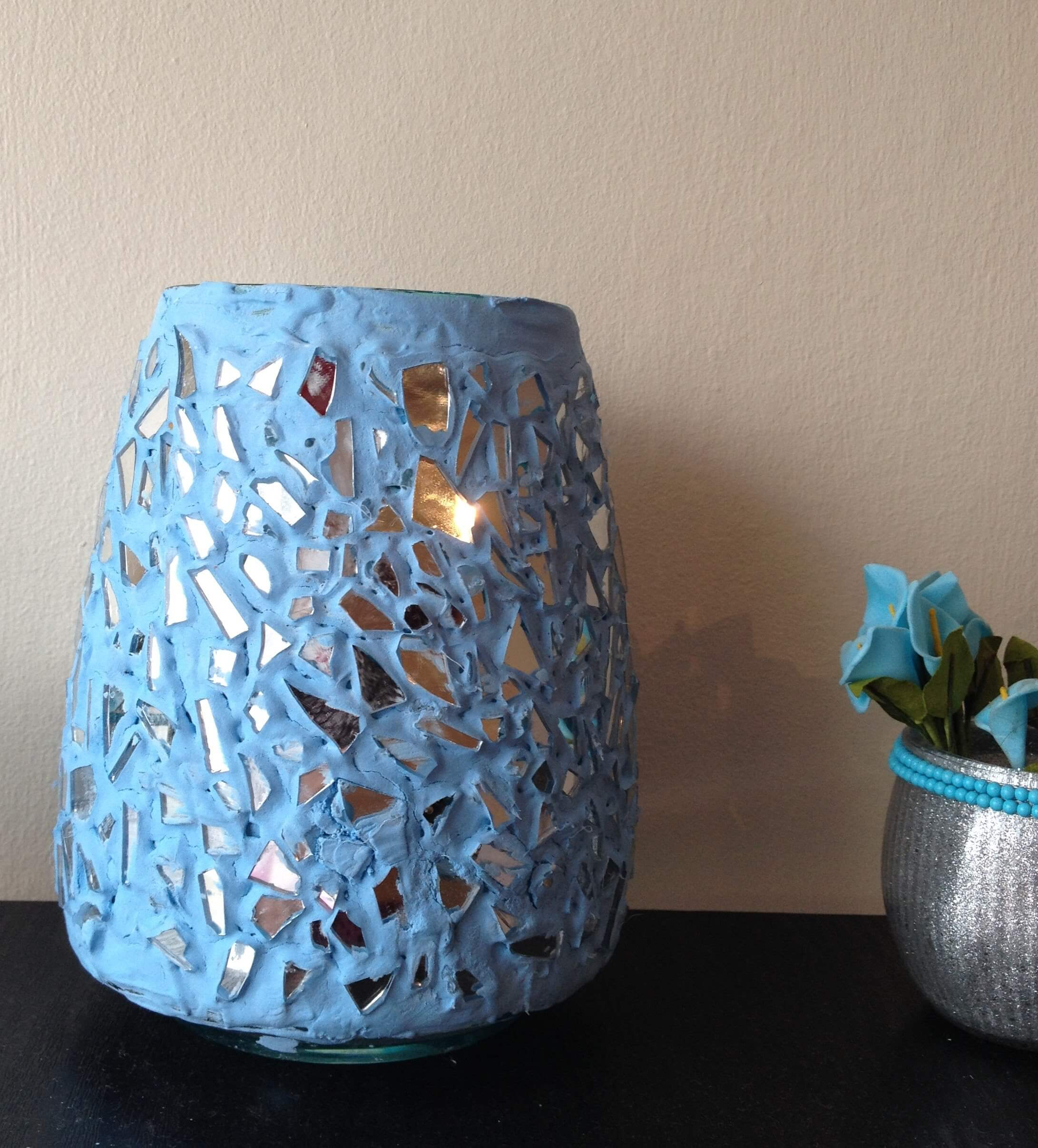 Mirror Glass on a Blue Vase