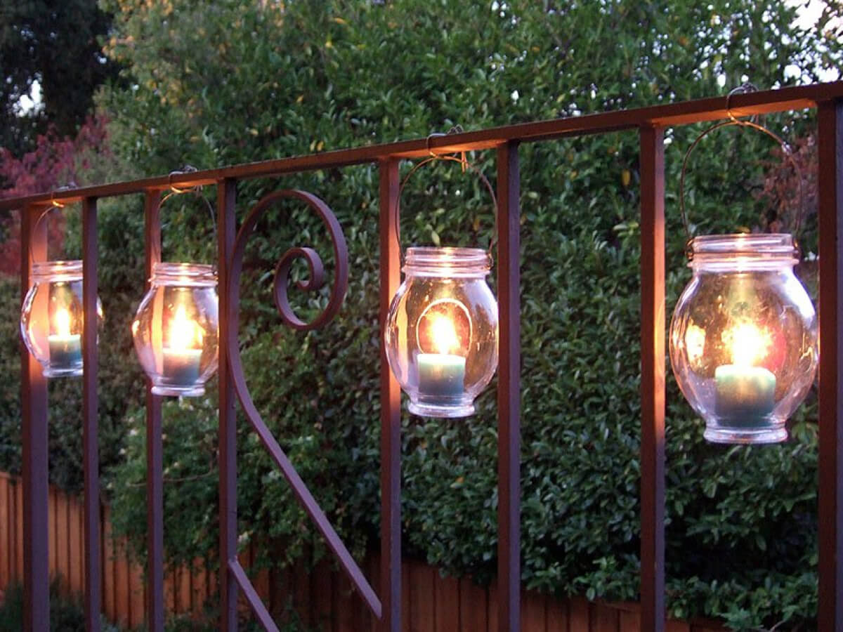 Hang Charming Mason Jar Candle Lanterns