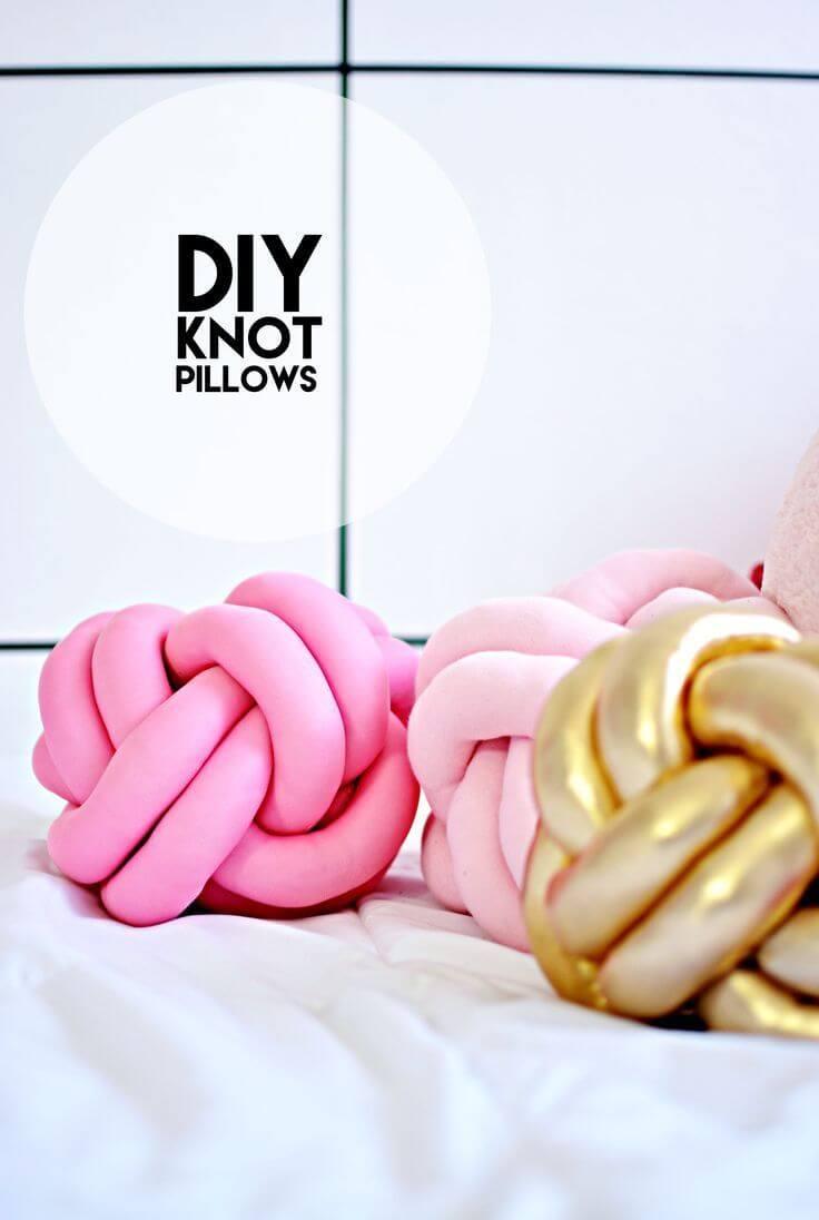 Fun DIY Knot Pillow Ideas