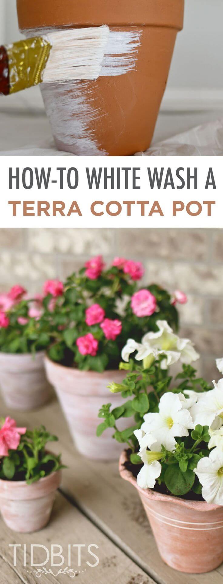 How to Distress New Terra Cotta Pots