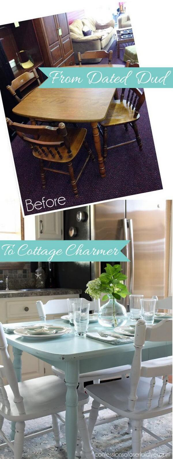 Repaint an Old Kitchen Table Cottage Style