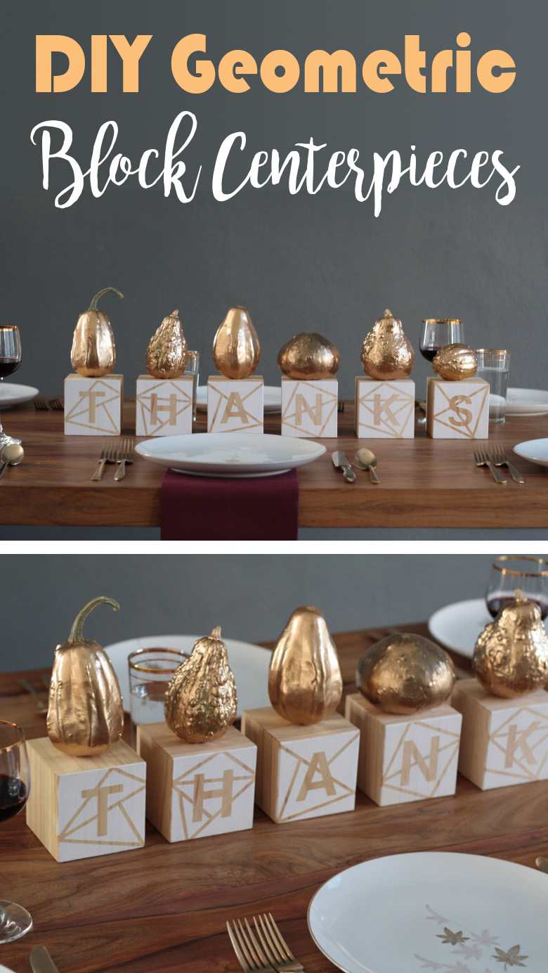 Gilded Fruit and Block Centerpieces