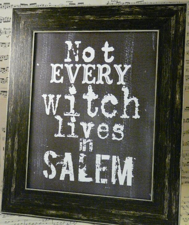 """""""Not Every Witch"""" Framed Print"""