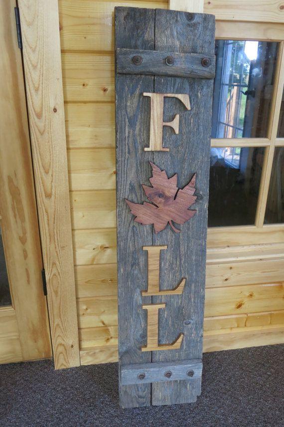 Cute Rustic Fall Porch Decoration