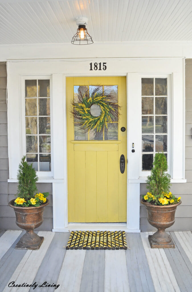 Full of Sunshine Yellow Front Door
