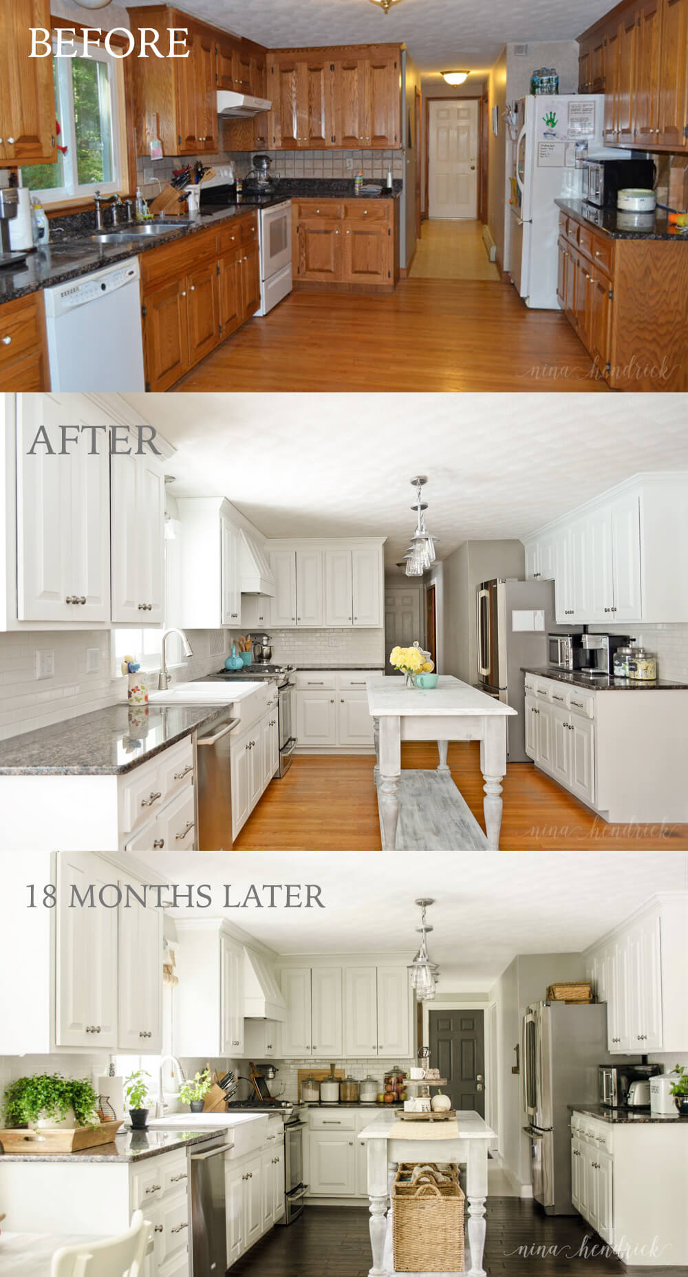 Lightening the Cabinets and Adding an Island