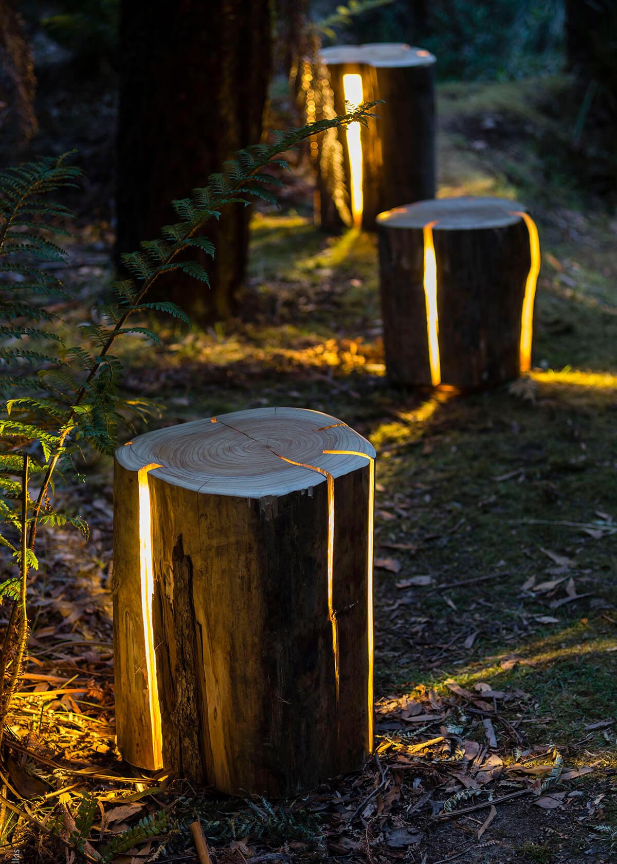 Unique Magical Log Landscape Lights