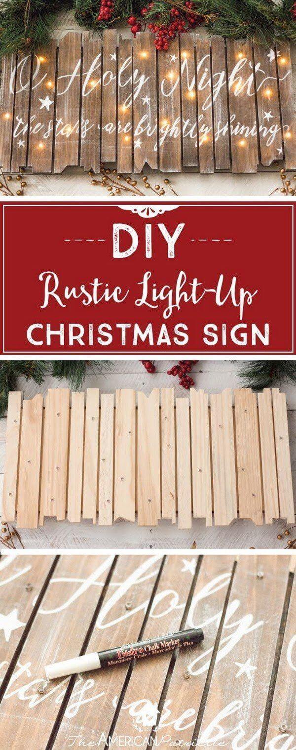Light Up Religious Christmas Sign