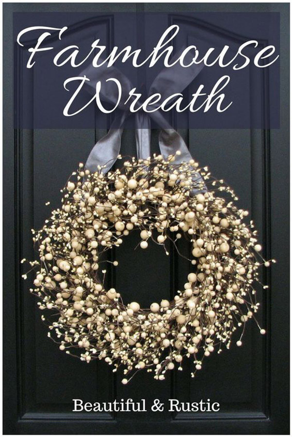 Full Round Wreath with White Berries