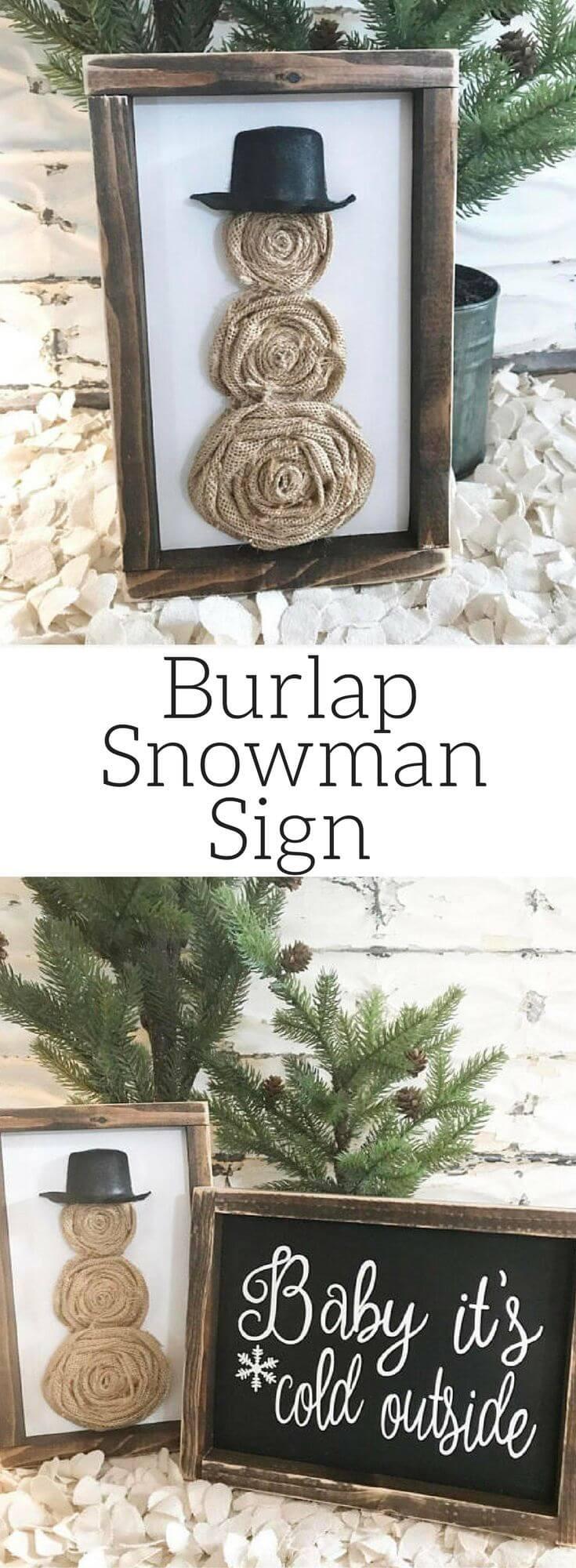 Rustic Winter Decor Sign Ideas