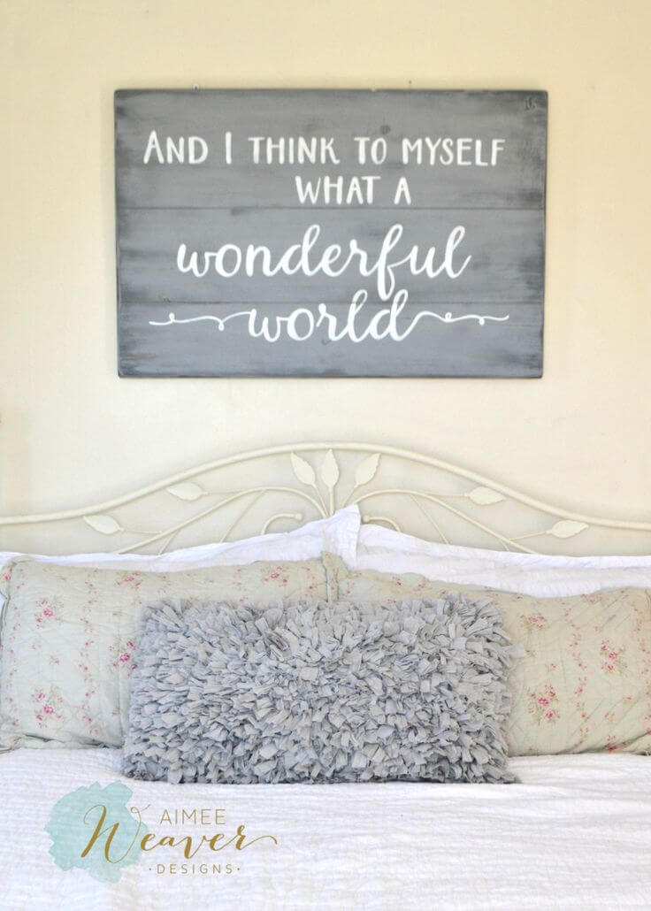 What a Wonderful World Bedroom Wall Hanging
