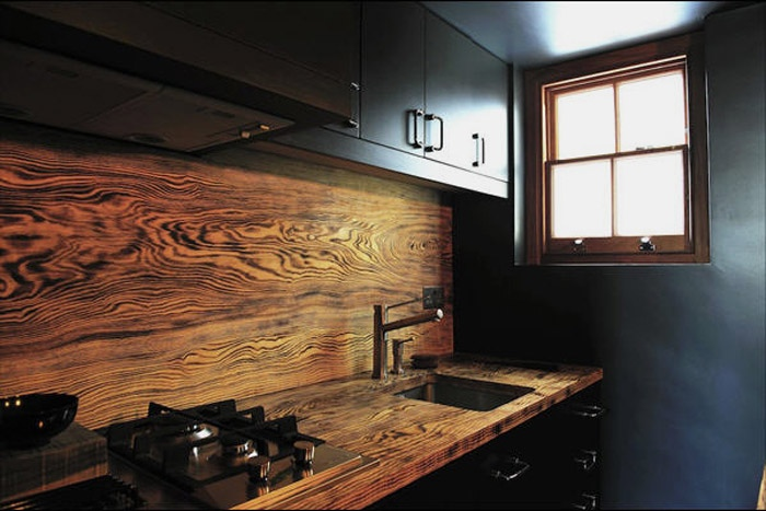 Rustic Wooden Backsplash