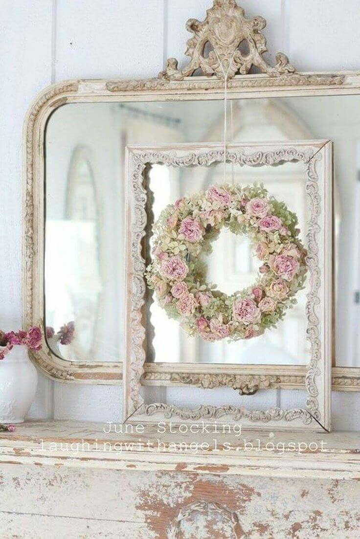 Arrangement of Roses, Frames, and Mirrors