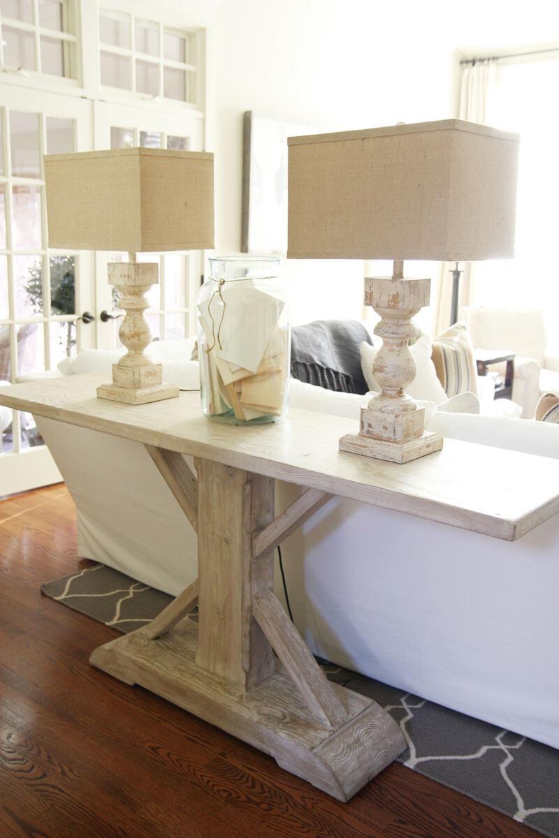 Estate Style Pedestal Sofa Table