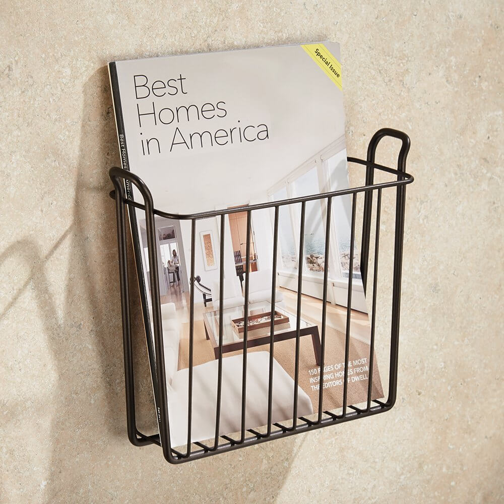 Bronze Wire Magazine Wall Rack