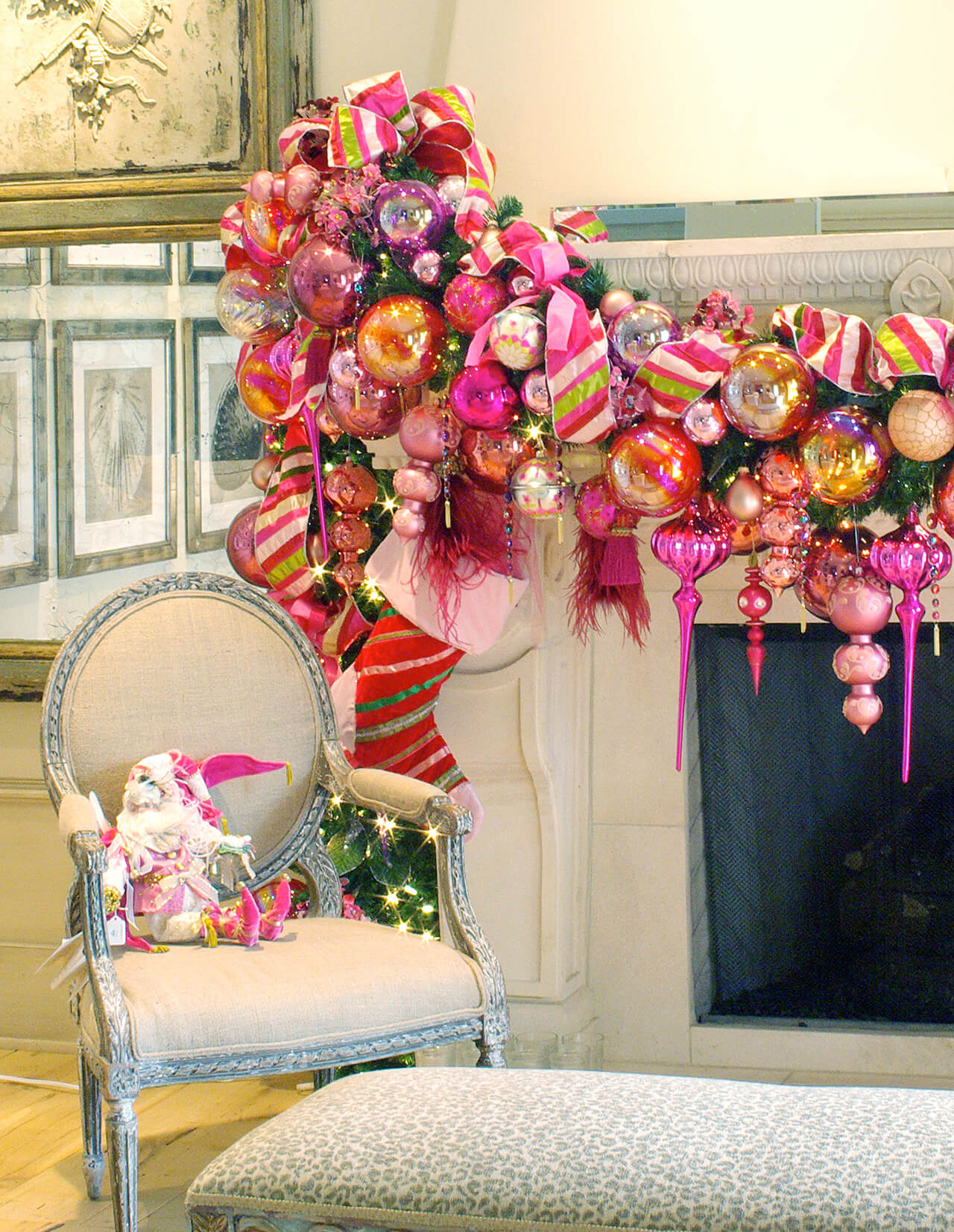 Pretty in Pink Ornament Garland