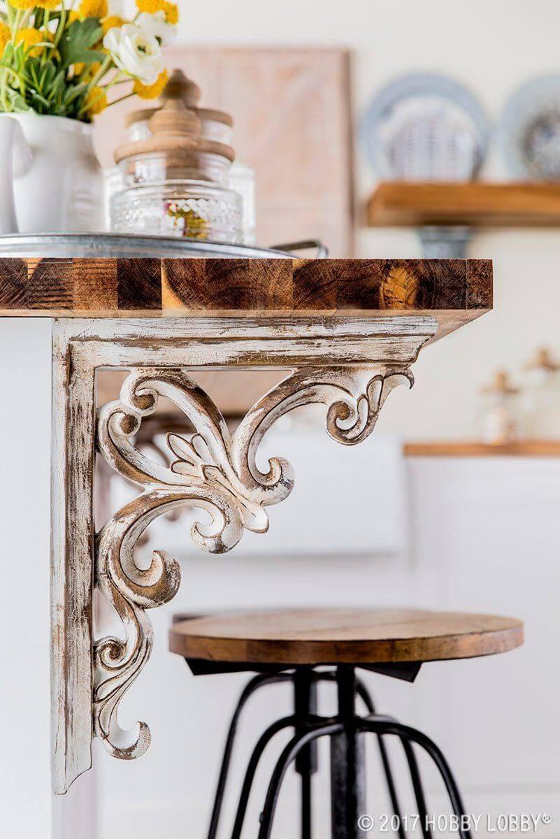 Victorian Corbel Ideas for Kitchen Islands