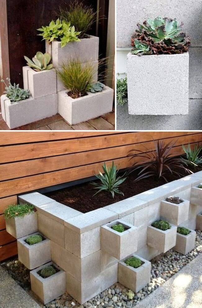 Cinder Block Garden Container Ideas