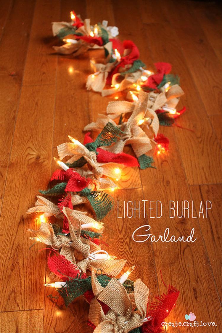 Rustic Chic Burlap Garland