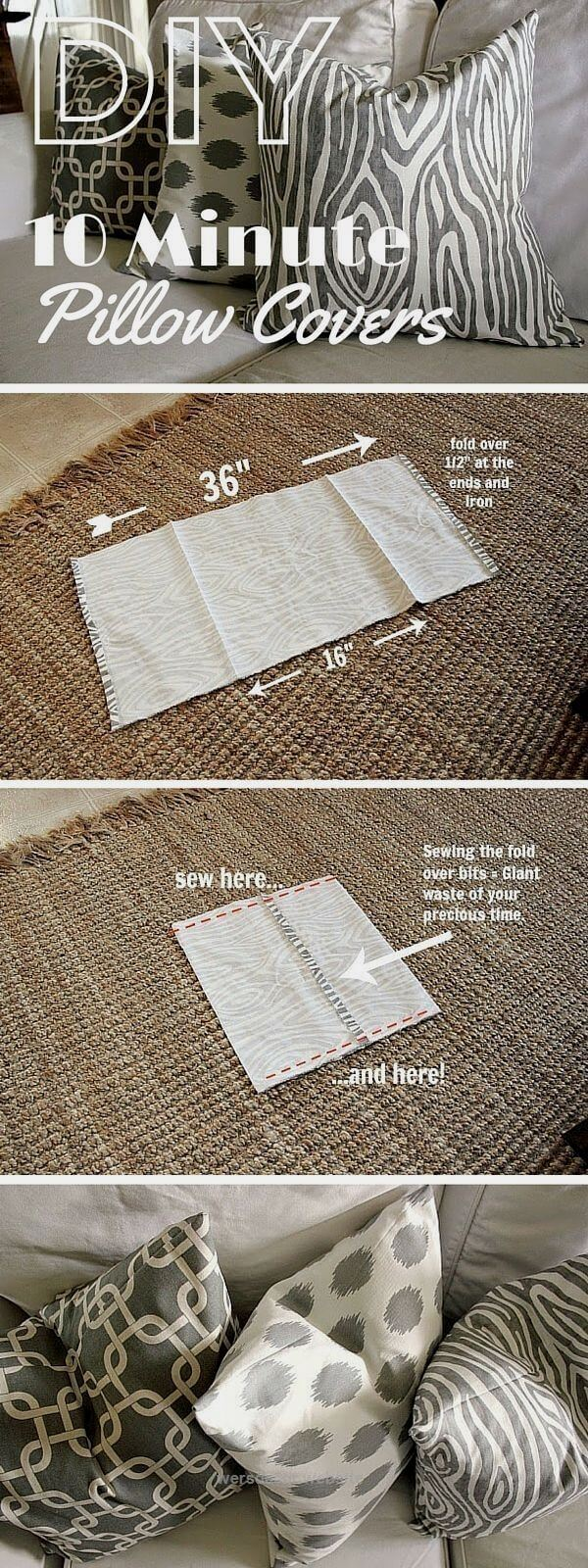 Fast and Easy DIY Pillow Covers
