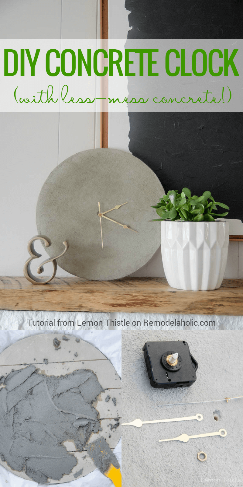 Simple but Striking Brutalist Concrete Clock