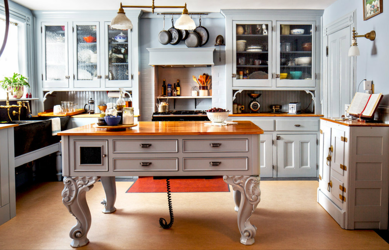 Elegance from the Baroque Period Kitchen Island