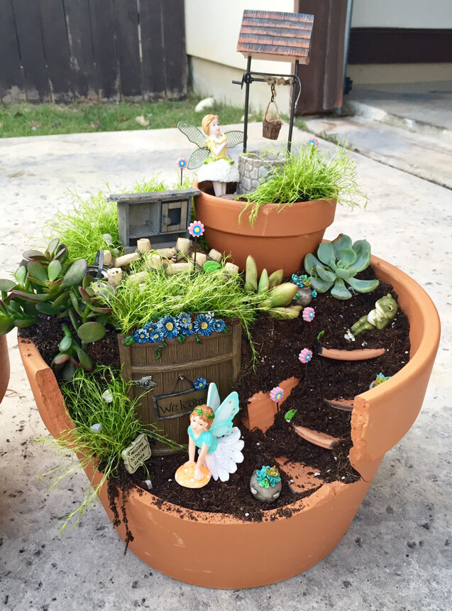 Sweet Fairy House in a Planter