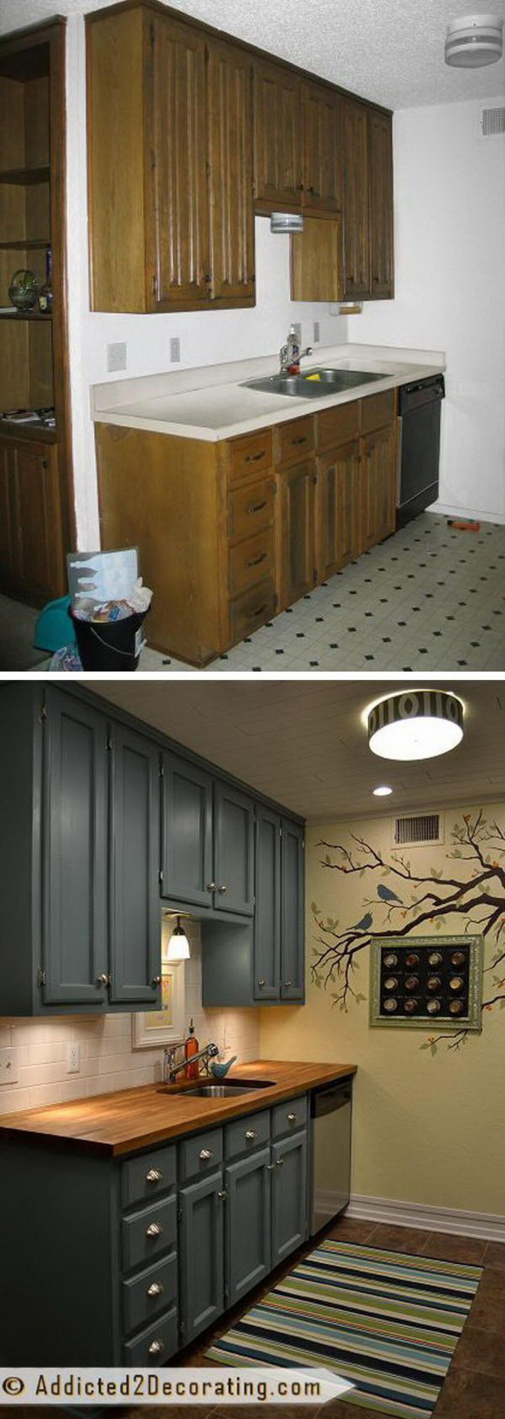 A Dark Vintage Design with Sandy Tiled Floors