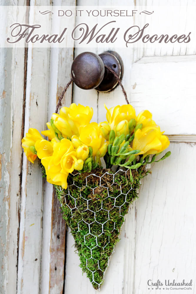 Use Chicken Wire to Make a Sconce