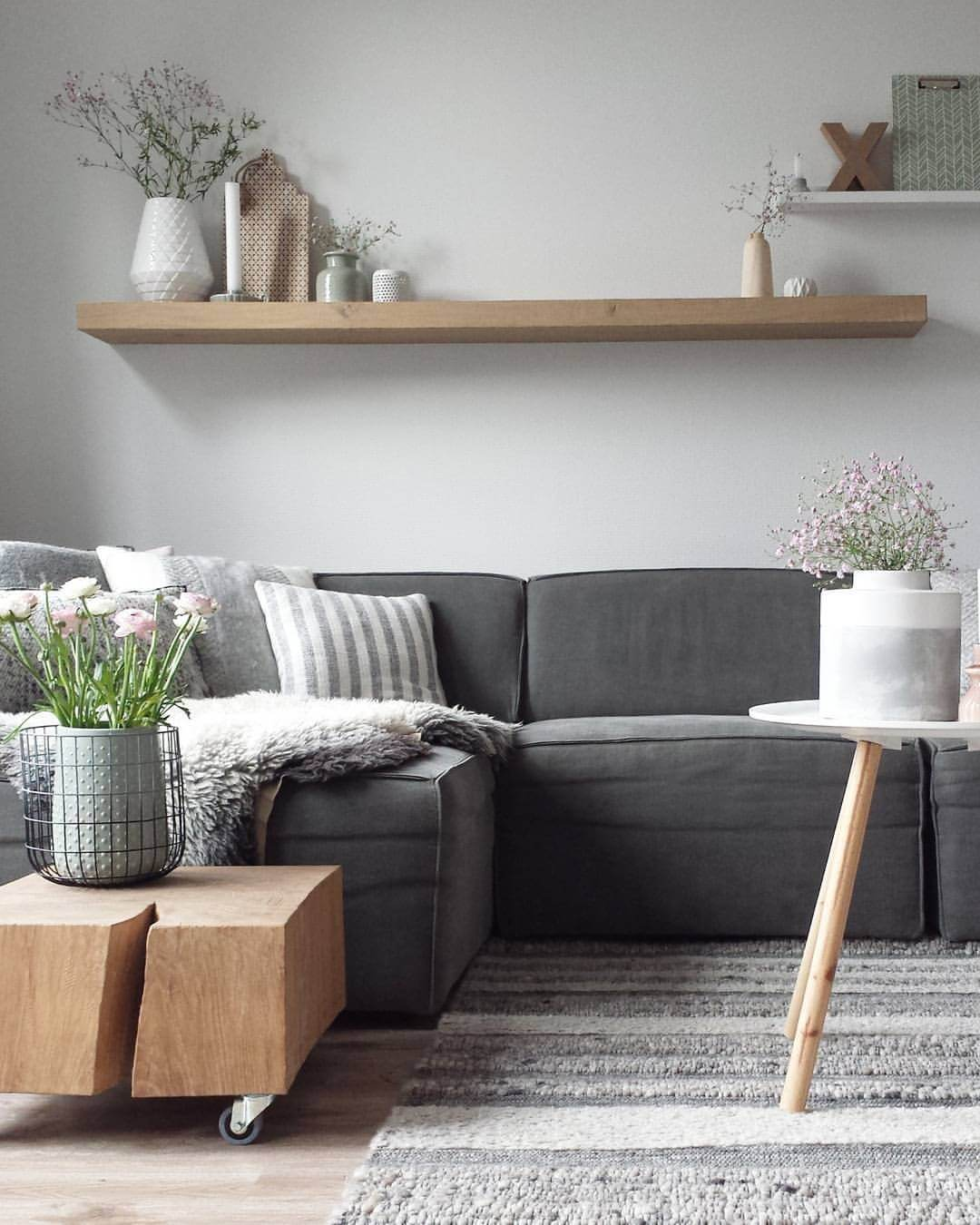 Warm Woods, Soft Textures Living Room
