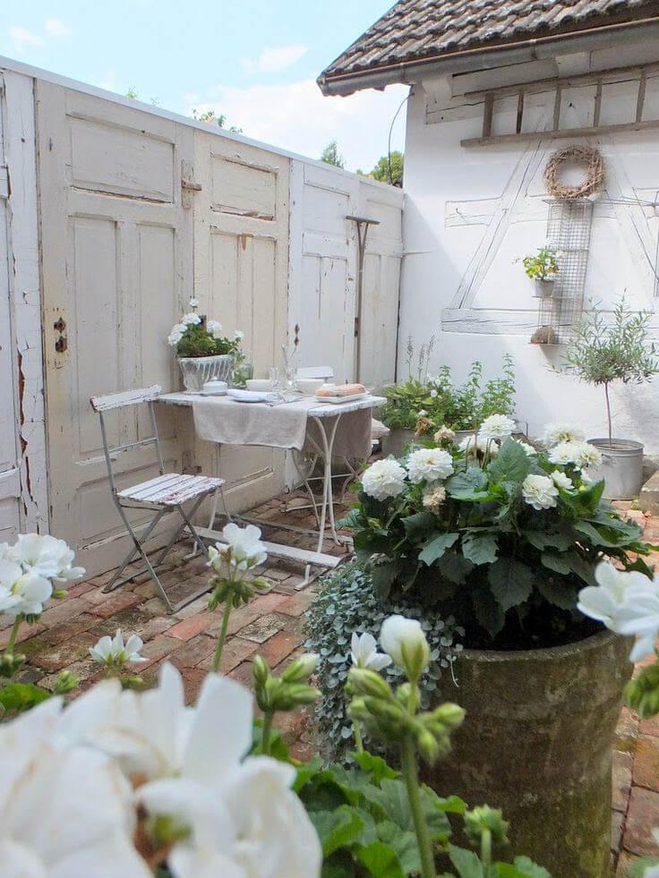 Reclaimed Doors make the Garden Wall