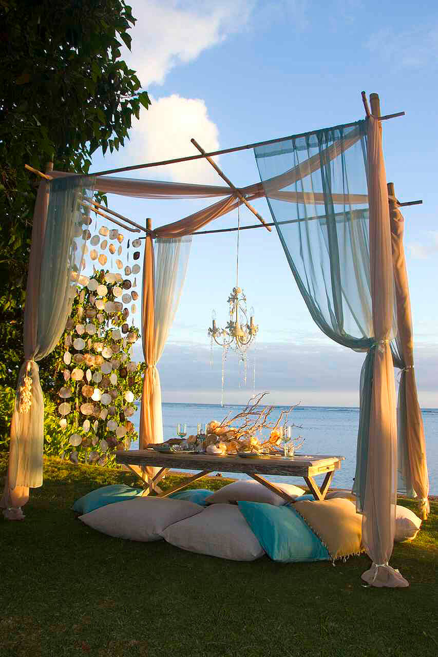 Shimmery Pastels for A Whimsical Beach Hideaway