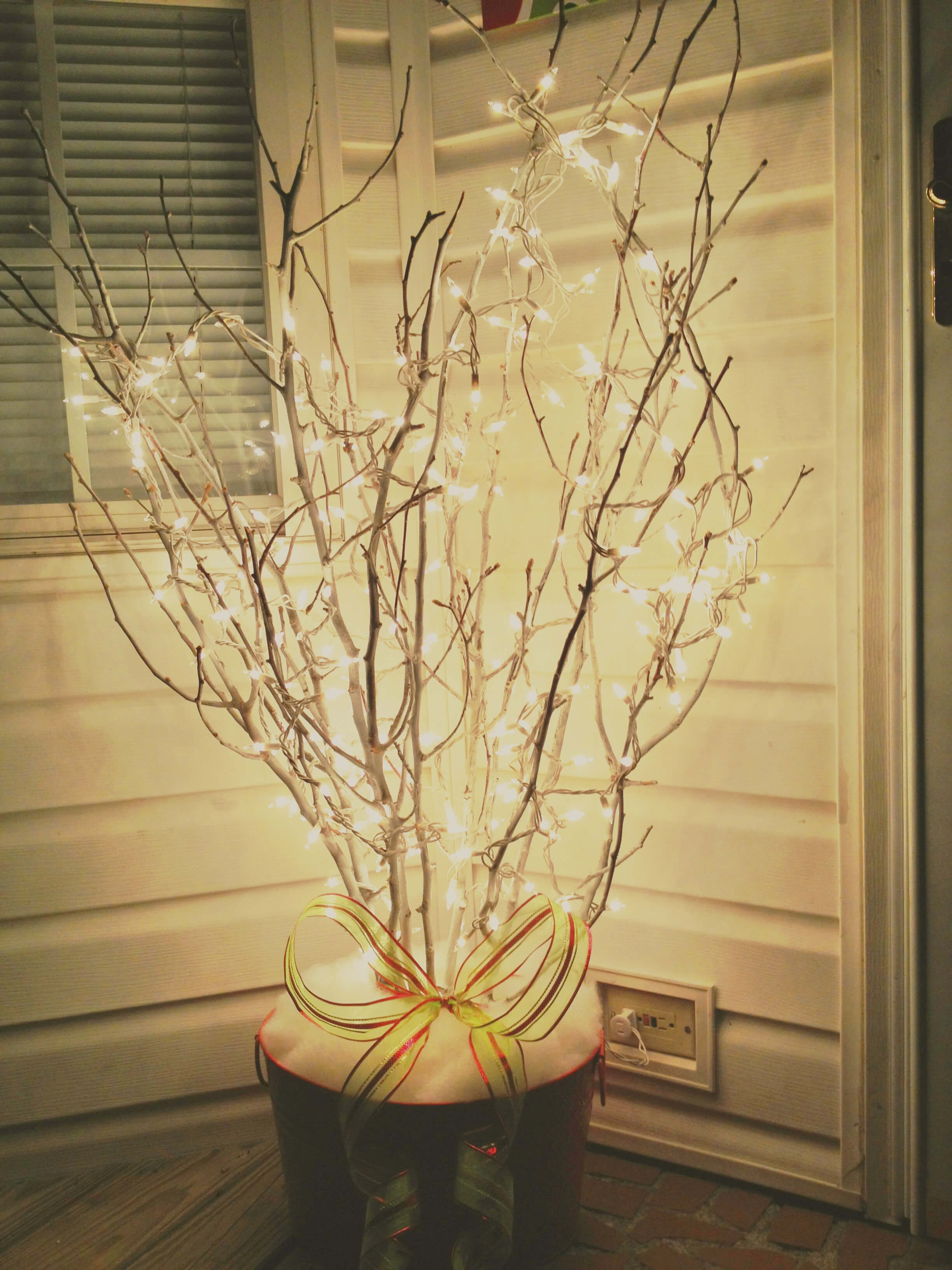 Simple Branches With String Lights