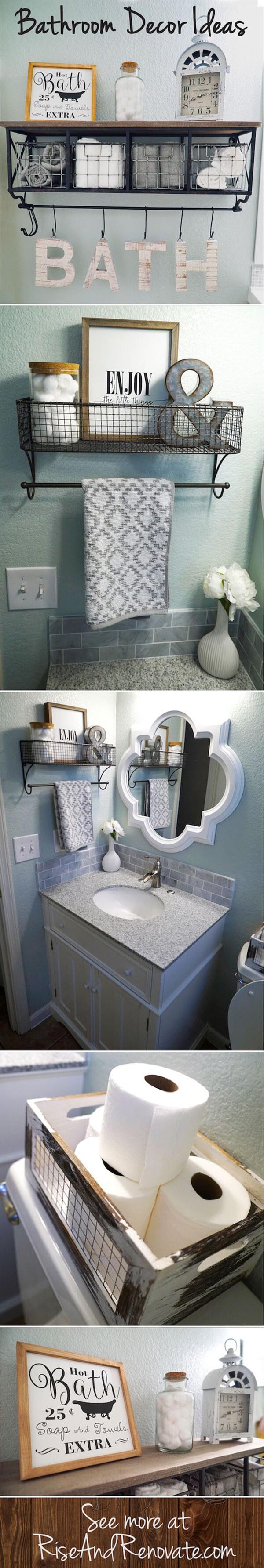Easy DIY Bathroom Storage Baskets