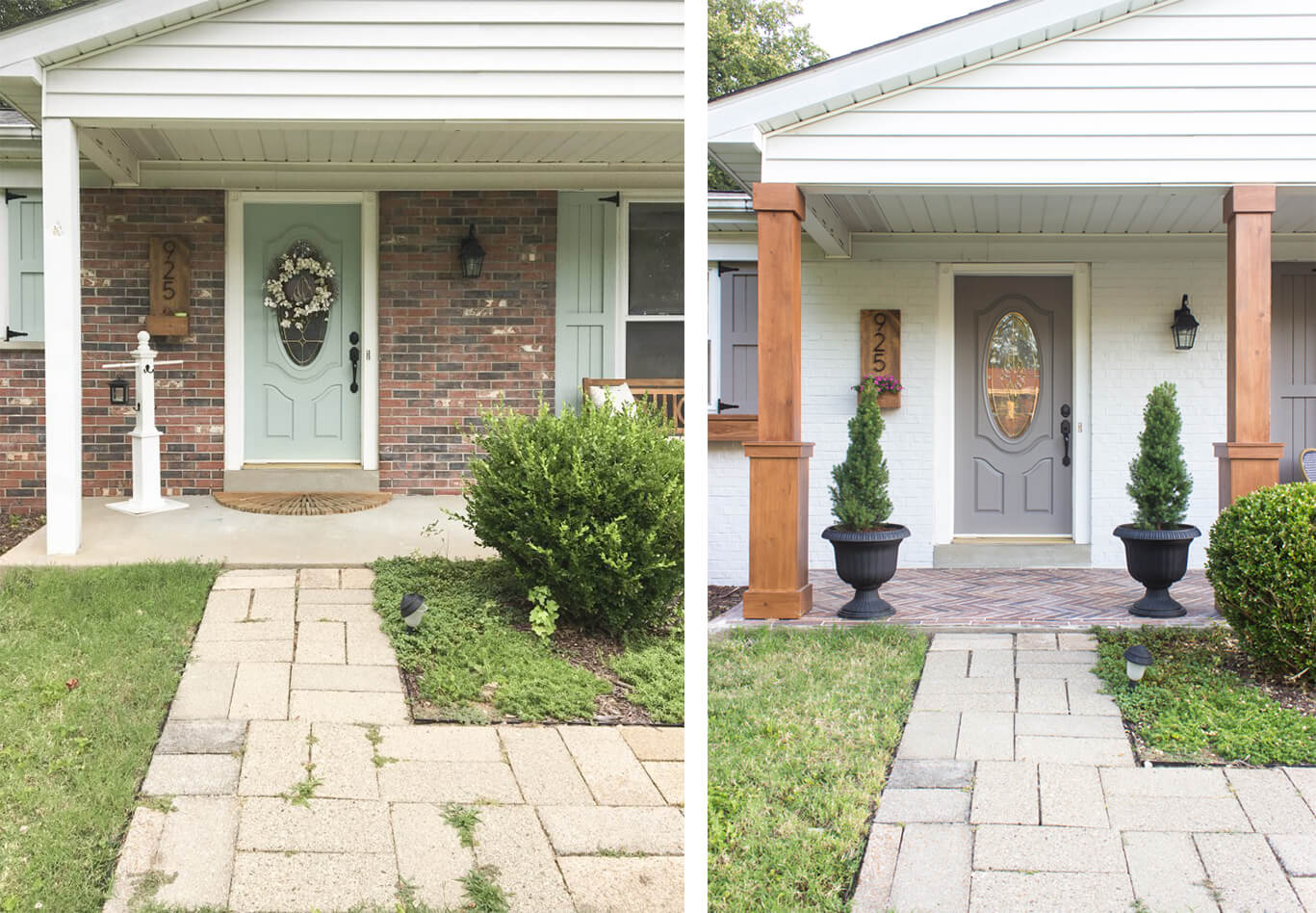 Total Porch Makeover from Columns to Colors