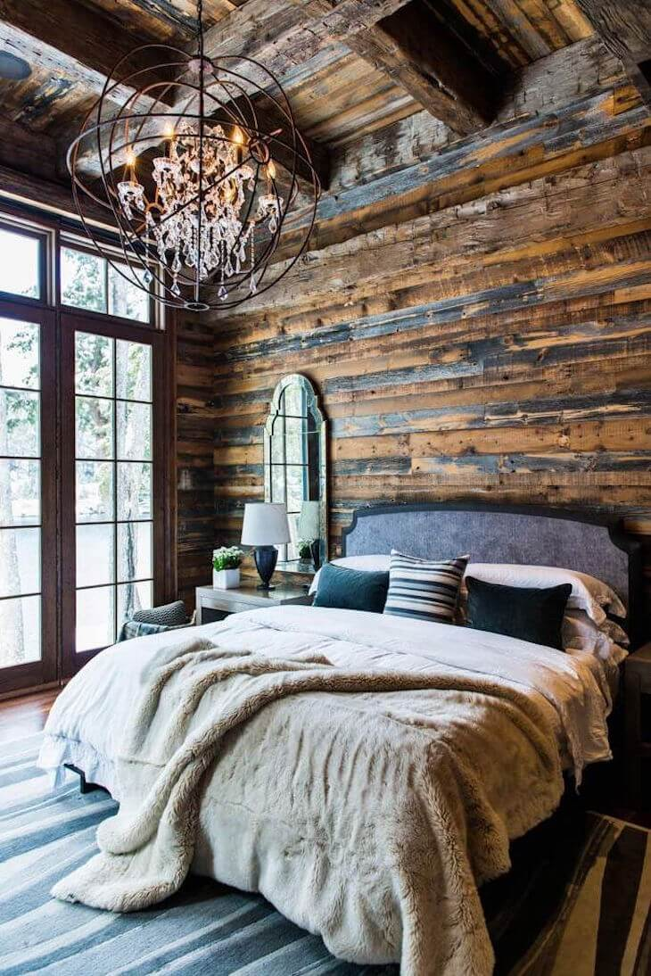 Reclaimed Shiplap Walls and Exposed Beams